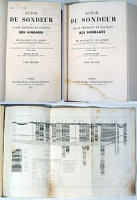 Rare Geology Book: Degousée, Joseph Marie Anne & Laurent, Charles Auguste; Guide du sondeur ou traité théorique et pratique des sondages... Deuxième édition, 1861