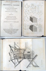 Rare Mineralogy Book: The Philosophical Magazine.....By Alexander Tilloch.....Volume 1. London, Printed for the Proprietors....1798.