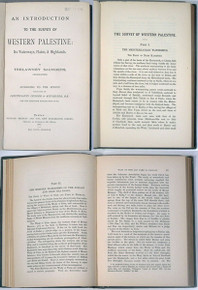 Rare Travel Book: Saunders, Trelawney; An Introduction to the Survey of Western Palestine...1881.