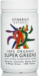 Synergy Super Greens 1000 Tablets Organic