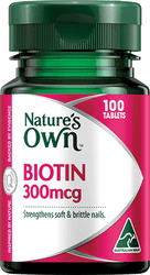 Nature's Own Biotin 300mcg 100 Tabs