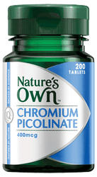 Nature's Own Chromium Picolinate 400mcg 200 Tabs