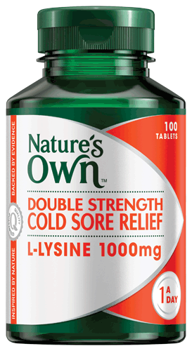 Nature's Own Double Strength Cold Sore Relief L-Lysine 1000mg 100 Tabs