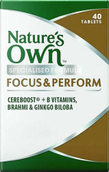 Nature's Own Focus & Perform 40 Tabs