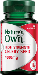 Nature's Own High Strength Celery Seed 4000mg 30 Caps x 2 Pack