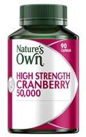 Nature's Own High Strength Cranberry 50000mg 90 Caps