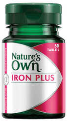 Nature's Own Iron Plus 50 Tabs x 2 Pack