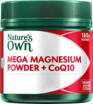 Nature's Own Mega Magnesium Powder plus CoQ10 180g