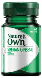 Nature's Own Siberian Ginseng 1000mg 60 Tabs