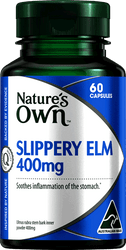 Nature's Own Slippery Elm 400mg 60 Caps