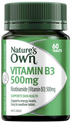 Nature's Own Vitamin B3 500mg 60 Tabs x 2 Pack