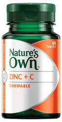 Nature's Own Zinc Plus C 60 Chewable Tabs