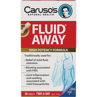Caruso's Natural Health Fluid Away 30 Tabs