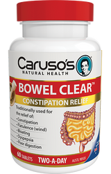 Caruso's Natural Health Bowel Clear 60 Tabs
