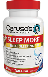 Caruso's Natural Health Sleep More 30 Tabs