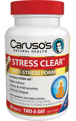 Caruso's Natural Health Stress Clear 60 Tabs