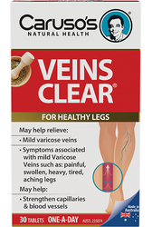 Caruso's Natural Health Veins Clear 30 Tabs