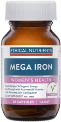 Ethical Nutrients Mega Iron with B Vitamins 30 Caps