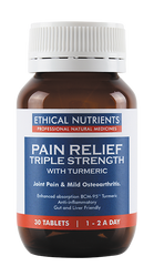 Ethical Nutrients Pain Relief Triple Strength with Turmeric 30 Tabs