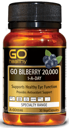GO Healthy Bilberry 20000mg 30 Caps