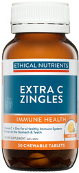 Ethical Nutrients Extra C Zingles Orange 50 Tabs