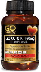GO Healthy CoQ10 160mg High Strength 100 Caps