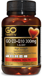 GO Healthy CoQ10 300mg + Vitamin D3 1000IU 30 Caps
