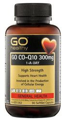 GO Healthy CoQ10 300mg + Vitamin D3 1000IU 90 Caps