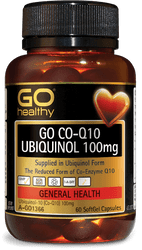 GO Healthy CoQ10 Ubiquinol 100mg 60 Caps