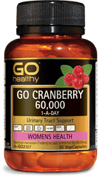 GO Healthy Cranberry 60000mg 60 Caps
