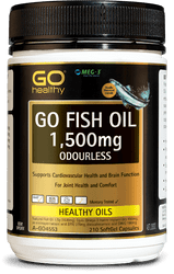 GO Healthy Fish Oil 1500mg Odourless 210 Caps