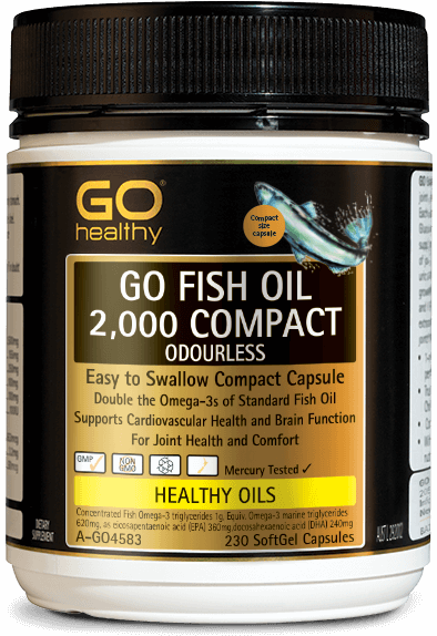 GO Healthy Fish Oil 2000mg Compact Odourless 230 Caps