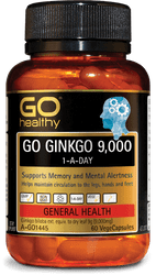GO Healthy Ginkgo 9000mg 60 Caps