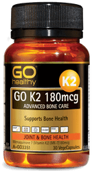 GO Healthy K2 180mcg Advanced Bone Care 30 Caps