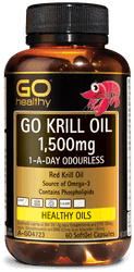 GO Healthy Krill Oil 1500mg Odourless 60 Caps