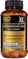 GO Healthy Magnesium 800mg High Strength 120 Caps