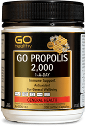 GO Healthy Propolis 2000mg 200 Caps