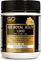 GO Healthy Royal Jelly 1000mg with 10-HDA 12mg 180 Caps