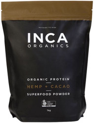 INCA Organics Organic Protein Hemp + Cacao Superfood Powder 1kg