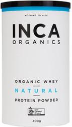 INCA Organics Organic Whey Natural Protein Superfood Powder 400g