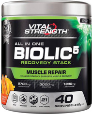 VitalStrength All-in-one Biolic5 Recovery Stack Orange Boost 440g