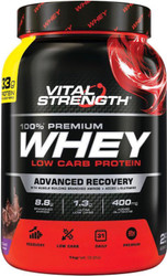 VitalStrength 100% Premium Whey Low Carb Protein 1kg Chocolate Blast