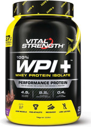 VitalStrength 100% WPI + 1kg Chocolate Blast Whey Protein Isolate