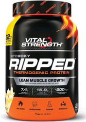 VitalStrength Hydroxy Ripped Thermogenic Protein 1kg Vanilla Ice Cream