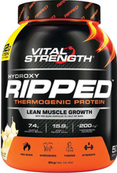 VitalStrength Hydroxy Ripped Thermogenic Protein 2kg Vanilla Ice Cream