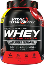 VitalStrength 100% Premium Whey Low Carb Protein 2kg Chocolate Blast