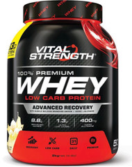 VitalStrength 100% Premium Whey Low Carb Protein 2kg Vanilla Ice Cream