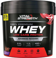VitalStrength Launch 100% Premium Whey Low Carb Protein 3kg Chocolate Blast