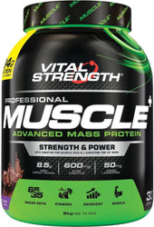 VitalStrength Pro Muscle+ Advanced Mass Protein 2kg Chocolate Blast