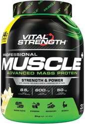 VitalStrength Pro Muscle+ Advanced Mass Protein 2kg Vanilla Ice Cream